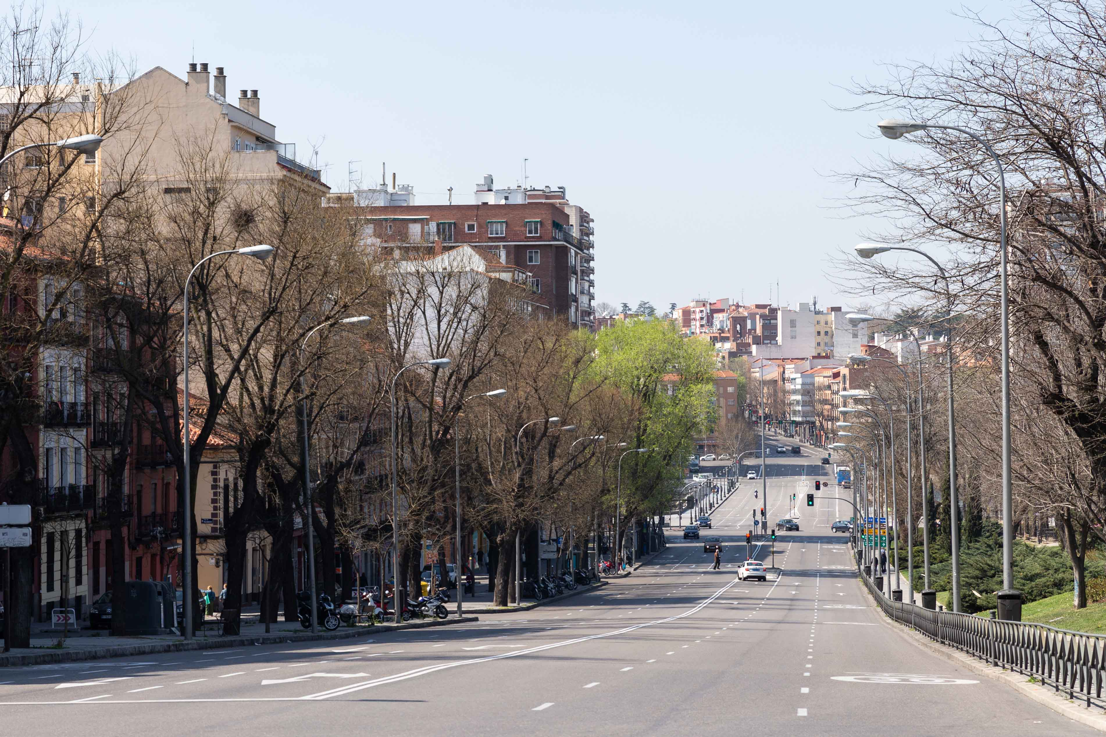 Madrid, la mañana del domingo 15 de marzo, primer día tras el decreto de alarma en España por el coronavirus.